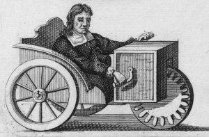 Der Rollstuhl mit Handkurbel